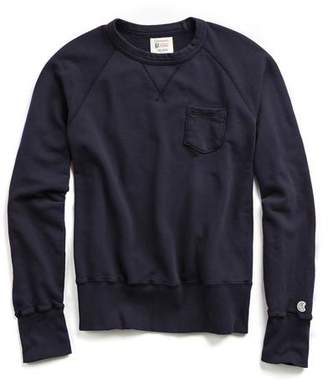 Todd Snyder + Champion Classic Pocket Sweatshirt in True Navy