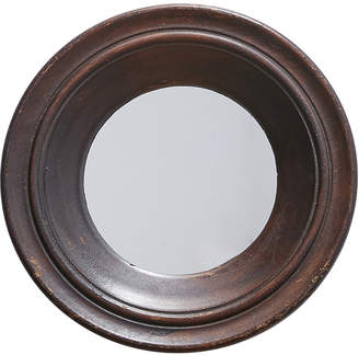 Rejuvenation Round Mirror w/ Thick Wooden Frame