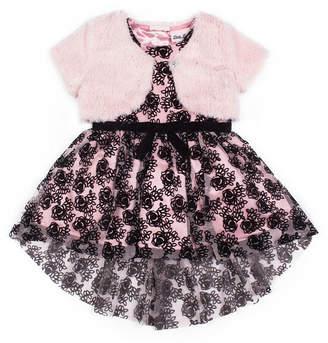 Little Lass Belted Sleeveless Party Dress - Toddler Girls