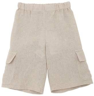 La Stupenderia Cotton & Linen Cargo Shorts