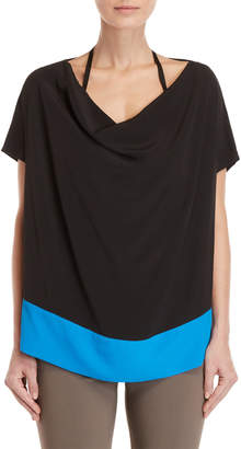 Pierantonio Gaspari Short Sleeve Tunic Blouse