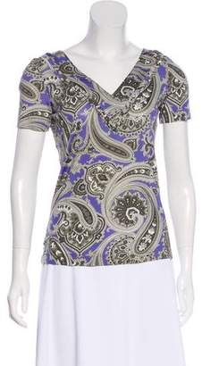 Etro Printed Short Sleeve Top
