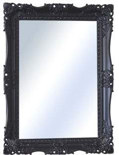 MirrorOutlet Large Black Very Ornate Antique Design Big Wall Mirror 3Ft1 X 2Ft3 (94Cm X 68Cm) Single (30)