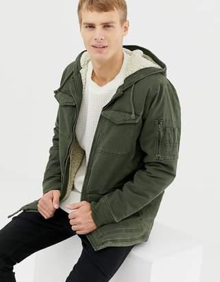Hollister twill workwear jacket