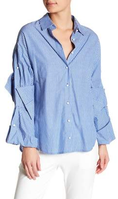 TOV Tailored French Cuff Blouse