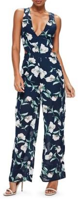 Women's Missguided Tie Back Chiffon Jumpsuit $82 thestylecure.com