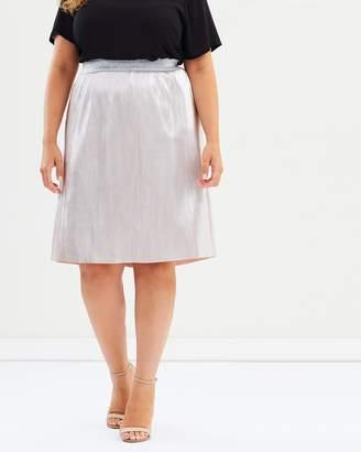Junarose Mango On-Knee Skirt