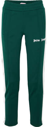 Palm Angels Striped Satin-jersey Track Pants - Dark green