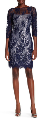 Marina Lace & Sequin Two-Piece Dress $189 thestylecure.com