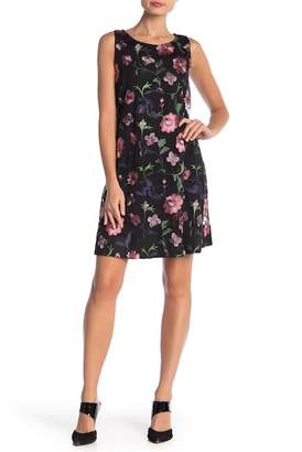 Robbie Bee Embroidered Floral Mesh Dress