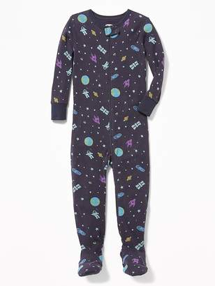 Old Navy Space-Print Footed Sleeper for Toddler & Baby