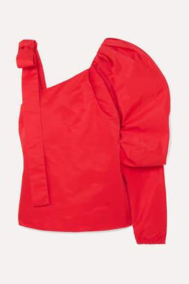 Hellessy Cooper Cold-shoulder Cotton-blend Poplin Top - Red