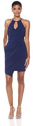 Adelyn Rae Women's Tami Woven Asymmetrical Sheath Dress