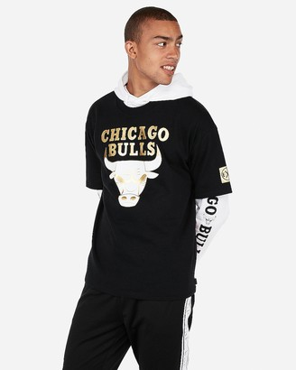Express Chicago Bulls Nba Heavy Weight Foil Graphic Tee