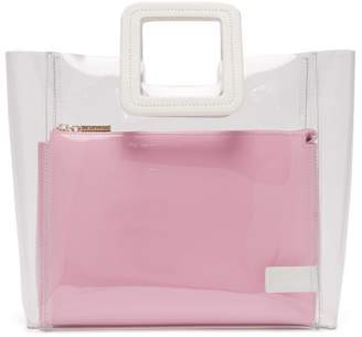 Staud - Shirley Pvc And Leather Tote Bag - Womens - Pink White