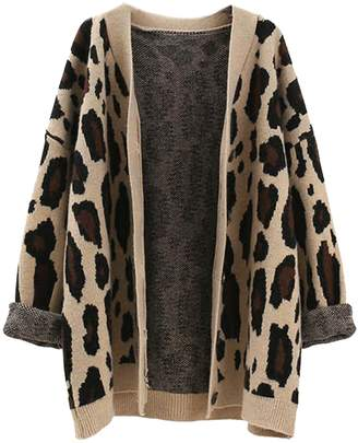 Goodnight Macaroon 'Aditi' Leopard Print Open Cardigan (3 Colors)
