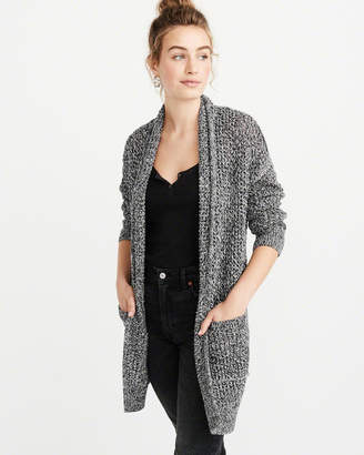 Abercrombie & Fitch Textured Open Front Cardigan