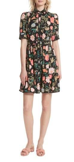 Blossom Print Fluid Shirtdress