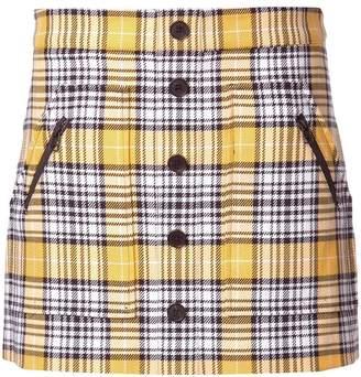 Veronica Beard checked mini skirt