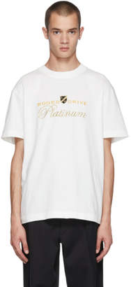Alexander Wang White Rodeo Drive Platinum T-Shirt
