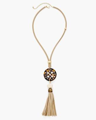 Chico's Chicos Quinn Reversible Tassel Pendant Necklace