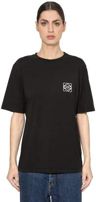 Loewe Oversize Logo Embroidered Jersey T-Shirt