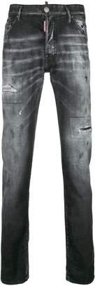 DSQUARED2 patch detail slim jeans