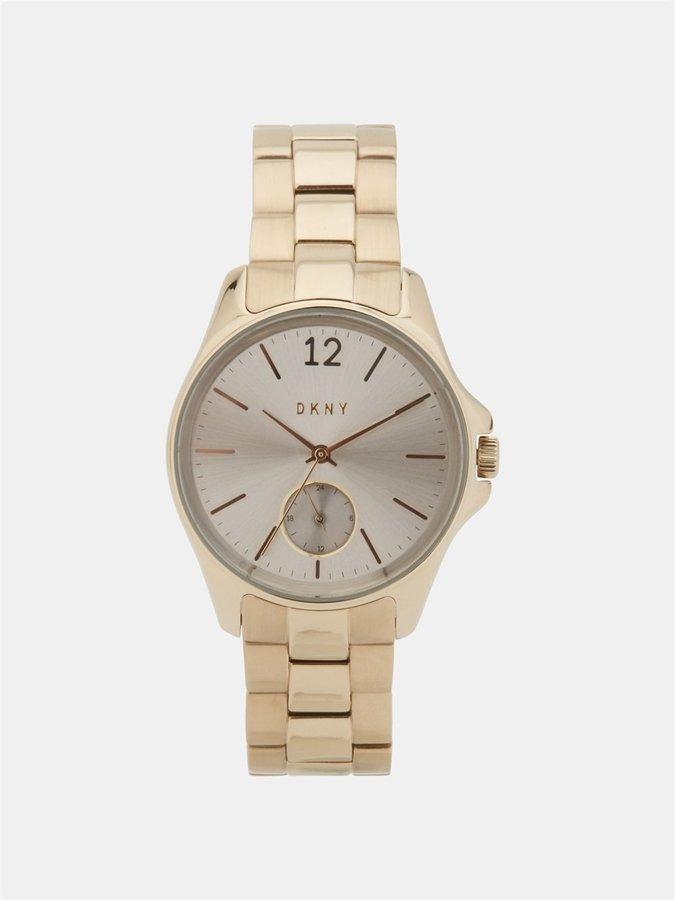DKNYEldridge 36mm Gray Dial Gold Tone Watch