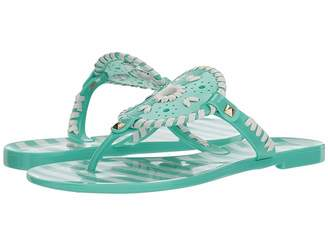 Jack Rogers Striped Georgica Jelly Women's Shoes