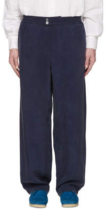 Our Legacy Blue Cocktail Drape Trousers