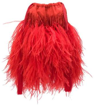 ATTICO feathers mini bag