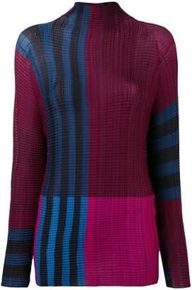 Issey Miyake colour block top