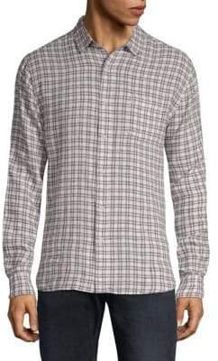 Saks Fifth Avenue Plaid Shirt
