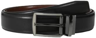 Perry Ellis Portfolio Matte and Hi Shine Buckle Reversible Dress Belt Men's Belts