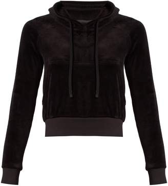 Vetements X Juicy Couture cotton-blend velour hooded top