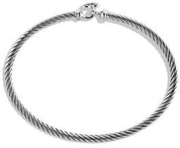 David Yurman Cable Collectibles Heart Bracelet with Diamonds
