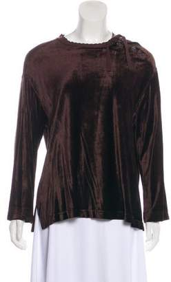 Sonia Rykiel Velvet Long Sleeve Top