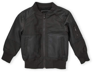 Urban Republic Toddler Boys) Textured Faux Leather Bomber Jacket
