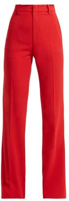 Gucci Wide Leg Cady Trousers - Womens - Red
