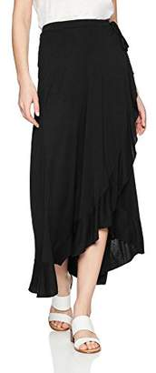 Three Dots Women's Vintage Jersey Loose Mid Wrap Skirt