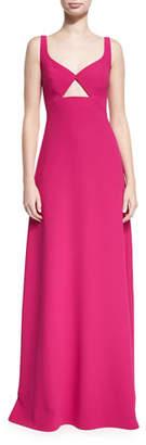 Jill Stuart Sleeveless Cutout Crepe Evening Gown, Punch