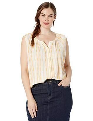Lucky Brand Women's Plus Size Striped Sleeveless Shirt