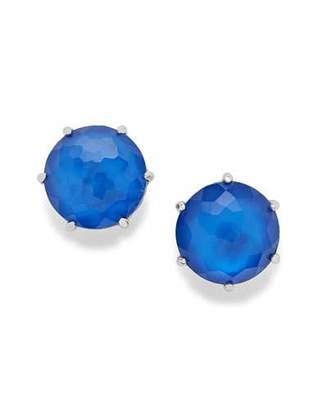 Ippolita 925 Wonderland Medium Round Stud Earrings in Cobalt