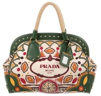 bd8f270267d5c1 Prada Canapa Stampata Frame Bag