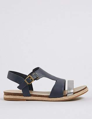 Marks and Spencer Wide Fit Leather Rope Detail Sandals