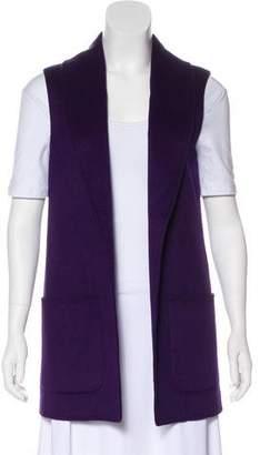 Michael Kors Virgin Wool & Angora-Blend Longline Vest
