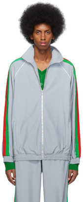 Gucci Silver Reflective Sweater