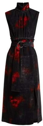 Altuzarra Indira Velvet Dress - Womens - Black Orange