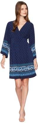 MICHAEL Michael Kors Printed Deep Vee Dress Women's Dress