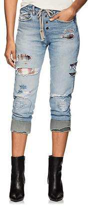 Greg Lauren Women's Patchwork Denim Lounge Pants
